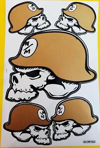 Set Bogen Aufkleber Sticker 5 x METAL MULISHA Helm gold gross 265 x 170 mm  #M33