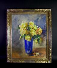 impress.  Gouache um 1920 - Blumen in blauer Vase - Sammlung Konsul Lindberg