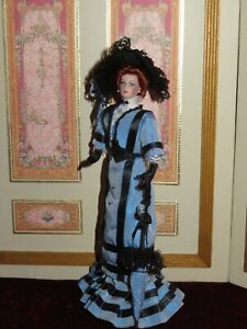 "FABULOUS ARTIST OOAK 7"" EDWARDIAN LADY DOLLHOUSE DOLL~WONDERFUL DETAIL!"
