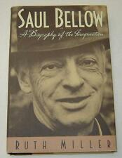 """RUTH MILLER """"SAUL BELLOW"""" (1991) 1ST EDITION HRDCVR W/DJ A BELLOW BIOGRAPHY"""