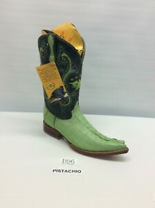 Men's Genuine Caiman pointed 3x toe Cowboy Western Boot FreeShipping!
