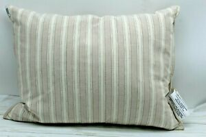 "RALPH LAUREN Home Graydon Bold Stripe15"" x20"" Decorative Pillow Linen/Dune $130"