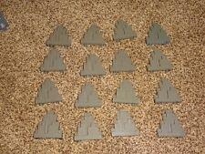 16 LEGO Dark Gray Rock Wall Mountain Cliff Panels (LURP)6082 6083 Castle Kingdom