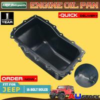 Engine Oil Pan Sump for Jeep Wrangler JK Series 2007-2010 2011 V6 3.8L 4666153AC