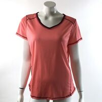 St. John's Bay Quick Dri Athletic Top Size Large Pink Coral Workout Shirt Womens