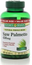 Nature's Bounty Saw Palmetto 450 mg Capsules 250 ea
