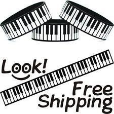 Keys On A Piano Bracelet Keyboard Music Wristband Pianist Player Wrist Band New!