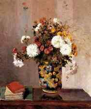 Pissarro Camille Chrysanthemums In A Chinese Vase A4 Print