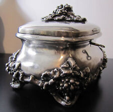 ESTATE SALE!!  BEAUTIFUL SILVER & GOLD JEWELRY OR DECORATIVE BOX  ~19c