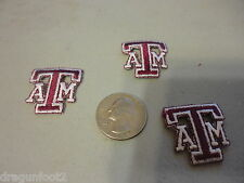 LOT OF 3 UNIVERSITY  OF TEXAS A & M EMBROIDERED PATCHES NCAA LICENSED
