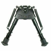 "Pivot Tilting Rifle Bipod 6"" to 9"" Spring Return Huntin Bipod Sling Swivel Mount"