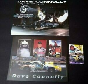 DAVE CONNOLLY NHRA  PRO STOCK DRAG RACING SIGNED T/F DRAGSTER PRESS PASS CARD
