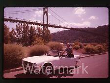 1980s 35mm photo slide 1970s Triump TR6 sports car automobile #1