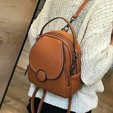 Women Mini Leather Backpack Small Ladies Shoulder Bag Girl Purse Female Soft