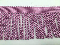 BULLION FRINGE TASSEL TRIM 11CM UPHOLSTERY FRINGING,1METRE, COLOUR CHOICE