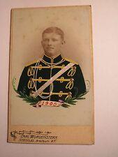 Stendal - 1905 - Soldat in Uniform - koloriert - Husar ? Nr. 10 ? /  CDV