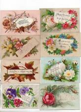 21 Victorian 1870s Xmas & New Year Cards from same scrapbook.
