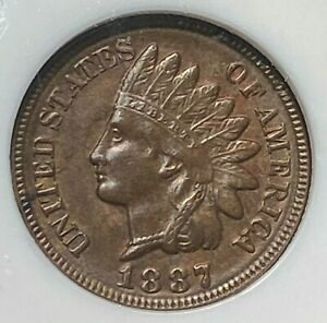 1887 Indian Cent NGC MS63 BN Nice for Grade Best Price on Ebay CHN
