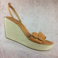 ROBERT CLERGERIE for Barneys Platform Wedge Sandals Leather Flower Size 8