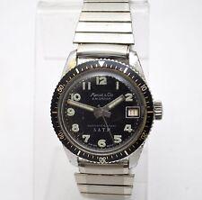 RARE 60's Marcel & Cie Calendar Hand Winding movement true 5 ATM Diver Watch
