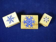 Snowflakes Mounted Rubber Stamps Lot of 3 Multiple Sizes by Inkadinkado