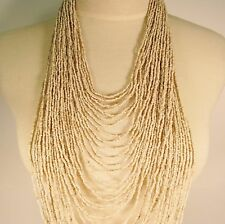 """45"""" VERY LONG Multi Strand Handmade Natural Bohemian Style Seed Bead Necklace"""