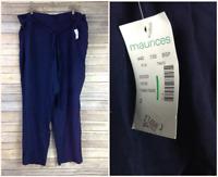 NEW Maurice's Women's Plus Size 2 Reg Pull On 100% Rayon Dress Pants Navy  Blue