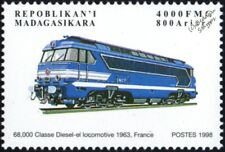 SNCF (France) Class 68000 A1A-A1A Diesel Locomotive Train Stamp #1