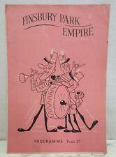 2 different 1951 Finsbury Park Empire programmes April & September