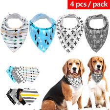 4pcs Adjustable Soft Dog Bandana Collar Fleece Dog Neck Scarf Neckerchief