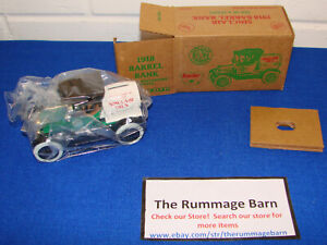 1991 ERTL #9483UP Die Cast METAL BANK -- SINCLAIR 1918 BARREL BANK  -- BOXED