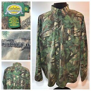 Men's 2XL Cabela's Seclusion 3D Konifer Shirt Camouflage Camo Large Green/Brown