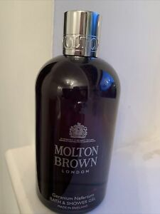 MOLTON BROWN--Geranium Nefertum Bath & Shower Gel--300ml--NEW/UNBOXED