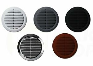 Round Air Vent Grille with Flange and Fly Screen Circle Duct Ventilation Cover