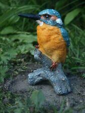 Eisvogel Figur Deko Vogel 12cm Vogel Tier Skulptur Gartenfigur  NEU