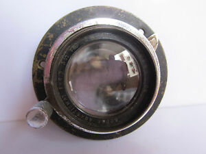 Kodak Anastigmat 5.5 inch Approx 135mm f4.5 Brass lens Covers 3.25 X 4.25 w Ring