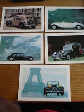 CITROEN TRACTION, FACTORY ISSUED POSTCARD SET -5