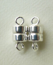 Sweet Sterling Silver Magnetic Clasps Single Strand 4.5MM Round 10mm lng 2-total