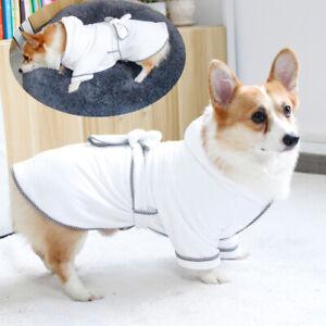 Simple Dog Bathrobe Absorbent Quick-drying Polyester Saft Robe Warm Pajam