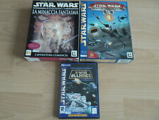 STAR WARS 3 GIOCHI PC CD-ROM,LA MINACCIA FANTASMA,ROUGE SQUADRON,X-WING ALLIANCE