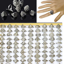 20pc Wholesale Lots Jewelry Mixed Style Tibet Silver Vintage Rings Ship Hot