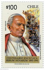 Chile 1991 #1506 Centenario Enciclica Rerum Novarum Papa Leon XIII MNH