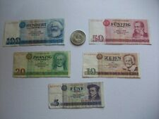 5 DDR Geldscheine 1971/1975 Wasserzeichen 5 -100 Mark 1 S Münze 20 Mark Ostalgie