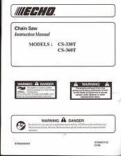 2006 ECHO CHAIN SAW CS-330T & CS-360T OPERATORS INSTRUCTION MANUAL  (402)