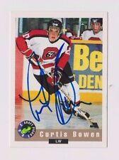 92/93 Classic Draft Curtis Bowen Ottawa 67's Autographed Hockey Card