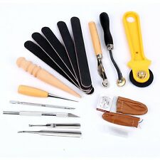 Beginner DIY Leather Craft Tools Punch Kit Handmade Stitching Carving Sewing Set