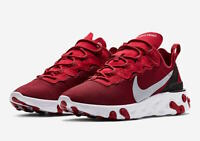 NIKE REACT ELEMENT 55 SE Gym Red Wolf Grey White Size 8-13 New BQ6166-601