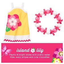 Gymboree Size 7 Island Lily Flower Dress Bracelet Outfit Set Lot New NWT!