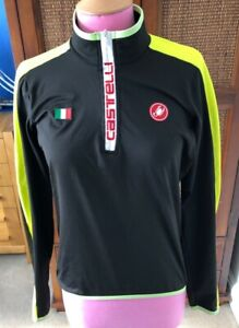 Castelli long sleeve black cycling jersey, size large