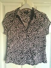 Dorothy Perkins Pink & Black Floral Blouse Top Size 16